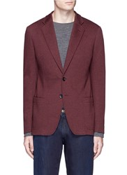 Armani Collezioni Cotton Blend Soft Blazer Red