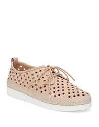 Lucky Brand Tikko Leather Perforated Sneakers Light Beige
