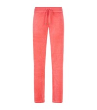 Juicy Couture Filagree Crown Velour Bootcut Sweatpants Female Salmon