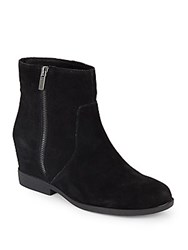 Kenneth Cole Reaction Suede Flat Ankle Boots Black