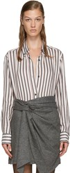 Isabel Marant White Striped Manray Shirt