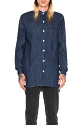 Our Legacy Long Button Down Shirt In Blue