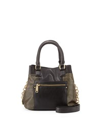 French Connection Ryan Faux Leather Crossbody Bag Black