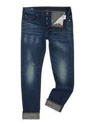 G Star 3301 Slim Fit Medium Aged Gosk Stretch Jeans Denim Mid Wash