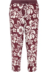 J.Crew Collection Genmaicha Sequined Cotton Straight Leg Pants Red