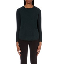 Whistles Boxy Cashmere Jumper Dark Green