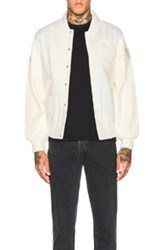 Opening Ceremony Exclusive Blackout Varsity Jacket In White