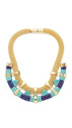 Holst Lee Mojave Collar Necklace Gold Blue