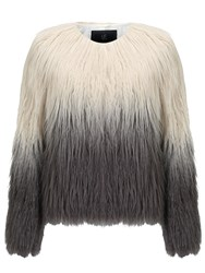 Unreal Fur Pastorale Ombre Jacket Champagne Grey