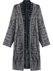 Cecilia Prado Open Front Knitted Cardi Coat Blue
