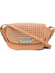 Zac Zac Posen 'Eartha Iconic' Micro Accordion Crossbody Bag Brown