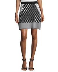 Romeo And Juliet Couture Banded Knit Skirt Black White