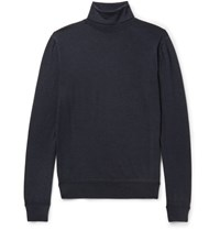 Berluti Slim Fit Wool Rollneck Sweater Navy