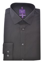 Double Two Slim Fit Formal Shirt Black