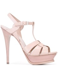 Saint Laurent 'Classic Tribute 105' Sandals Pink Purple