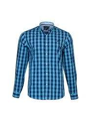 Raging Bull Large Check Shirt Navy