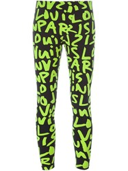 Louis Vuitton Vintage Stephen Sprouse Graffiti Leggings Black