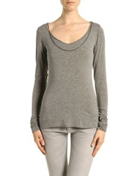 Dyed Pretty Long Sleeve T Shirts Grey