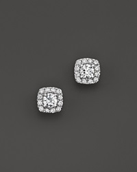 Bloomingdale's Diamond Square Halo Stud Earrings In 14K White Gold .50 Ct. T.W.