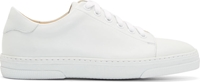 A.P.C. White Matte Leather Steffi Sneakers