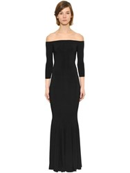 Norma Kamali Mermaid Techno Jersey Gown