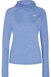 Nike Element Dri Fit Stretch Jersey Hooded Top Royal Blue
