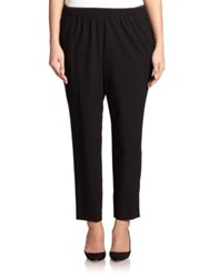 Lafayette 148 New York Plus Size Crepe Track Pants Black