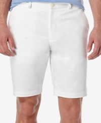 Perry Ellis Men's Slim Fit Flat Front Twill Shorts Bright White