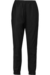 Oak Cropped Twill Tapered Pants Black