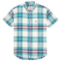 Joules Wilson Short Sleeve Shirt Jade Check
