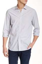Kent And Curwen Classic Fit Stripe Shirt Gray