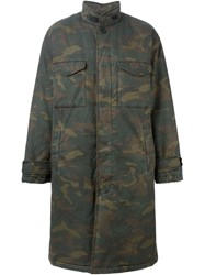 Yeezy Adidas Originals By Kanye West Camo Parka Green