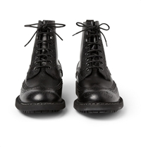 Givenchy Pebbled Leather Brogue Boots
