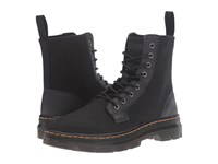 Dr. Martens Combs 8 Eye Boot Black 12Oz. Waxy Canvas Kanga Lace Up Boots