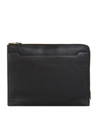 Tom Ford Leather Document Holder Black
