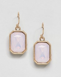 Ny Lon Nylon Pretty Gem Drop Earrings Pink