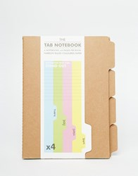 Gifts Tab Notebook In 4 Pack Multi