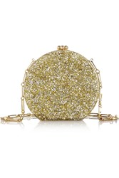 Edie Parker Oscar Glittered Acrylic Shoulder Bag Metallic