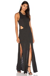 Lanston Crossover Cut Out Maxi Dress Charcoal