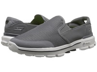 Skechers Performance Go Walk 3 Charge Charcoal Men's Slip On Shoes Gray