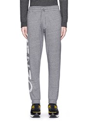 Kenzo Logo Print Cotton Sweatpants Grey
