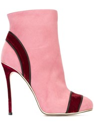 Dsquared2 Trim Detail Ankle Boots Pink And Purple