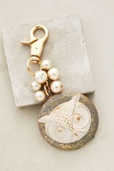 Anthropologie Animal Kingdom Locket Keychain Light Grey