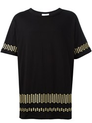 Les Benjamins Embroidered T Shirt Black
