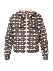 Moncler Gamme Rouge Rope Print Lightweight Silk Twill Jacket