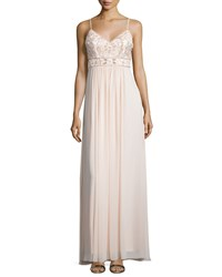 Sue Wong Sleeveless Embellished Bodice Gown Blush