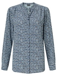 Gerry Weber Printed Blouse Blue
