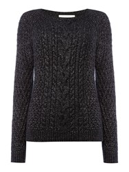 Part Two Relaxed Fit Stylish Pullover Made From A Soft Cot Black