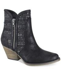 Mia Joaquin Studded Ankle Booties Women's Shoes Black
