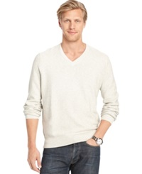 Izod Big And Tall V Neck Sweater Cream Heather